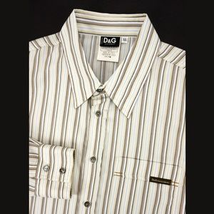 Dolce & Gabbana Men's Striped Shirt Fitted PERFECT
